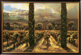 Garden: 2 Cypress Limited Edition Framed Print by Brooks Anderson