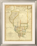 Map of Illinois, c.1820 Framed Giclee Print by John Melish