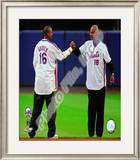 Dwight Gooden & Darryl Strawberry Final Game at Shea Stadium 2008 Framed Photographic Print