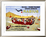 Marius Framed Giclee Print by Albert Dubout