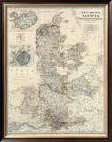 Denmark, Hanover, Brunswick, Mecklenburg, Oldenburg, c.1861 Framed Giclee Print by Alexander Keith Johnston