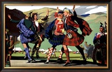 LMS Railway Highland Games Framed Giclee Print by Christopher Clark