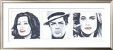 Sophia Loren, Marcello Mastroianni, Catherine Deneuve Print by Bob Celic