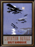 L'Aviation Navale, Britannique Framed Giclee Print by Nancy Smith