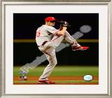 Cole Hamels Game one of the 2008 MLB World Series Framed Photographic Print