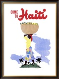 Come to Haiti Travel Framed Giclee Print by E. Lafond