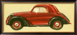 La Vettura Topolino Fiat Framed Giclee Print