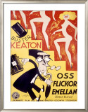 Buster Keaton, Speak Easily Framed Giclee Print