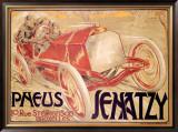 Pneus Jenatzy Framed Giclee Print by Georges Gaudy