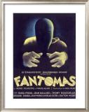 Fantomas, Sci-Fi Movie Poseter Framed Giclee Print