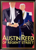 Austin Reed Framed Giclee Print by Tom Purvis