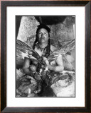 Placating the Spirit of a Slain Eagle, Assiniboin Prints by Edward S. Curtis