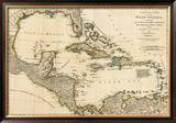 Complete Map of the West Indies, c.1776 Framed Giclee Print by Robert Sayer