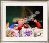 Jimmy Rollins With World Series Trophy Framed Photographic Print