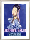 Josephine Baker, Pacific Framed Giclee Print by Guy-Gerard Noel
