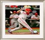 Chase Utley Game one of the 2008 MLB World Series Home Run Framed Photographic Print