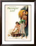 Lurline Passenger List, Women with Bananas Framed Giclee Print