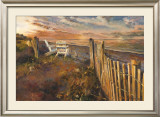 The Beach at Sunset Poster by Marilyn Hageman