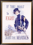 Join the Marines Framed Giclee Print by Howard Chandler Christy