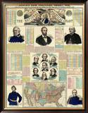 The National Political Chart, Civil War, c.1861 Framed Giclee Print by H. H. Lloyd