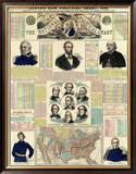The National Political Chart, Civil War, c.1861 Framed Giclee Print by H. H. Lloyd