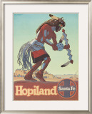 Santa Fe Railroad: Hopiland, c.1940's Framed Giclee Print by Don Perceval