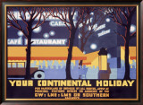 Your Continental Holiday Framed Giclee Print by Robert Brown