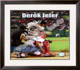 Derek Jeter surpasses Babe Ruth for second place on the Yankees' all-time hit list Framed Photographic Print
