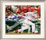 Chase Utley 2008 NLCS Game 1 Home Run Framed Photographic Print