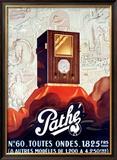 Pathe Tube Radio Framed Giclee Print