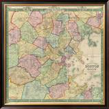 Boston and Vicinity, c.1852 Framed Giclee Print by F. G. Sidney