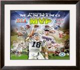 Peyton Manning & Eli Manning Framed Photographic Print