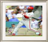 Jimmy Rollins 2008 Game 5 NLCS Home Run Framed Photographic Print
