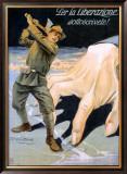La Liberazione Framed Giclee Print by Achille Luciano Mauzan
