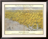 North and South Carolina and Part of Georgia, c.1861 Framed Giclee Print by John Bachmann