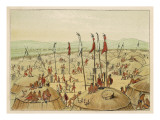 Village of the Mandan People Giclee Print