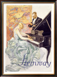 Steinway Framed Giclee Print by Von Axster-Heudtlass