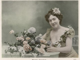Woman and Flowers, 1904 Photographic Print