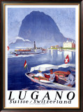 Lugano Framed Giclee Print by Otto Baumberger
