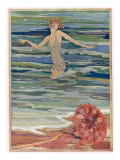 The Sea Hath Pearls - Especially at Deauville in August! Giclee Print
