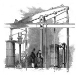 The Pumping Engine for Trafalgar Square Fountains, London Giclee Print