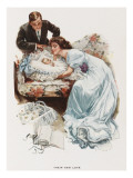 Husband and Wife Contemplate their First Child Giclee Print