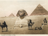 The Pyramids and the Sphinx at Giza, Cairo, Egypt Photographic Print
