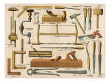 Tools Used in Carpentry and Joinery Giclee Print