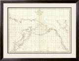 Cotes, l'Amerique, l'Asie, c.1797 Framed Giclee Print by Jean-francois De Galaup La Perouse