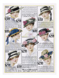 Womens Hats 1916 Giclee Print
