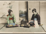 A Japanese Lady and Her Maidservant Photographic Print