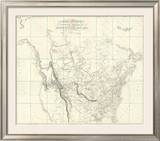New Discoveries in the Interior Parts of North America, c.1814 Framed Giclee Print by Aaron Arrowsmith