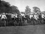 The 24 Hour Bicycle Race at Herne Hill, 1892 Fotografisk tryk