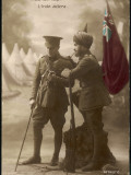 """India Will Help"" - a British and an Indian Officer Join Forces to Fight the Enemy Photographic Print"